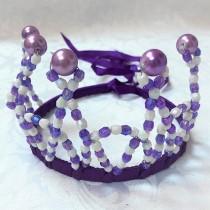 Beaded Princess Tiara - Purple