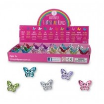 Birthstone Butterfly Rings