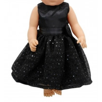 "18"" Sparkle Dress - Black"