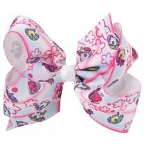 "Unicorn 4.5"" Bow Clip - Pink/Blue"