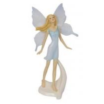 22cm Standing Glitter Fairy - Blue