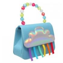 Pink Poppy Raining Rainbows Hard Handbag - Blue