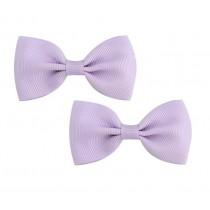 Bow Hair Clips - (2pc) - Lilac