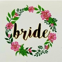 Temporary Tattoo - Floral - Bride