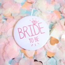 Bridal Party Pin - Pink Diamond - Bride to Be