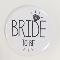 Bridal Party Pin - Rainbow Diamond - Bride to Be