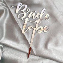 Bride to Be Cake Topper - Silver