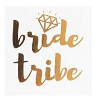 Temporary Tattoo - Gold Diamond - Bride Tribe