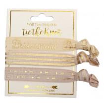 Help me tie the knot - Bridesmaid Hair Tie Set