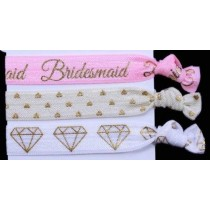 Bridesmaid Hair Tie Set (3pc)