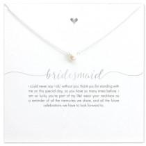 Bridesmaid Necklace - Silver