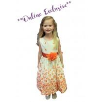 Britt Dress - Orange - Size 5/6