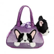 Fancy Pals Plush Peek-A-Boo French Bull Dog Pet Bag