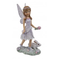 16cm Forest Fairy with Bunny Rabbit - Purple