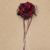 Flower with Ribbon - Burgundy
