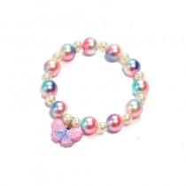 Butterfly Bead Bracelet - Pink/Blue