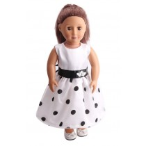 "18"" Butterfly Dolls Dress - Black/White"