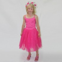 Pink Poppy Paris Diva Glitter Dress - Hot Pink