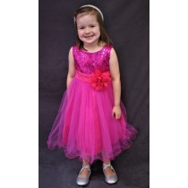 Carly Dress - Fuchsia