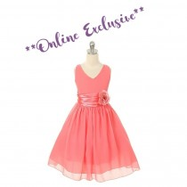 Chelsea Dress - Coral - Size 11/12 *FINAL STOCK