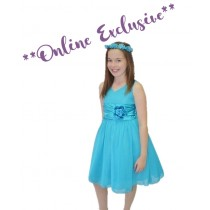 Chelsea Dress - Turquoise - Size 1/2 *FINAL STOCK