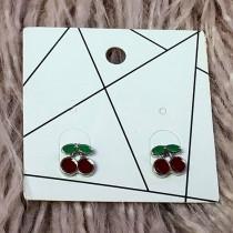 Pierced Earrings - Cherries