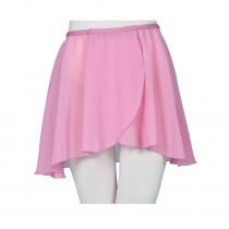 Chiffon Pull on Elastic Skirt - Dusty Pink