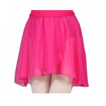 Chiffon Pull On Elastic Skirt - Mullberry