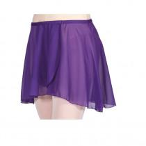 Chiffon Pull on Elastic Skirt - Purple