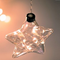 Clear Star Hanging Glass Light