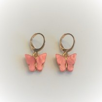 Ara DesigNZ - Butterfly Earrings - Coral