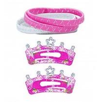 *Pink Poppy Crown Hair Accessorie Set - Pink
