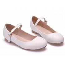 Crystal Flat Shoe - White