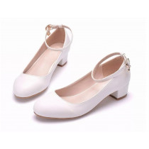 Crystal Heel Shoe - White *Tween/Adult Sizes