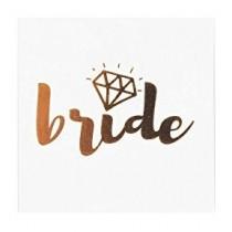 Temporary Tattoo - Gold Diamond - Bride