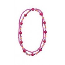 *Pink Poppy Double Strand Necklace - Hot Pink