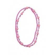 *Pink Poppy Double Strand Necklace - Light Pink