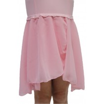 Chiffon Pull On Elastic Skirt - Pink