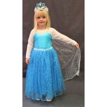 Elsa Dress (White Sleeves) with Cape (Frozen)
