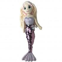 Mermaid Doll - 45cm Sequin - Light Pink/Silver
