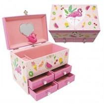Pink Poppy Fabulous Flamingo Medium Music Box