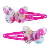 *Pink Poppy Fiesta Butterfly Clip