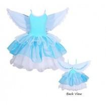 Flamingo Dress - Blue - Size 3/4