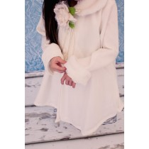 Fleece Cloak - White