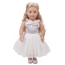 """18"""" Fleur Dress - White"""