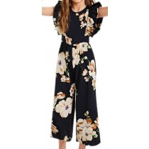 Floral Jumpsuit - Black