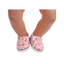 "18"" Doll Shoes - Floral Slip On Sneakers"