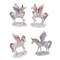 9cm Flying Floral Unicorn (4 asst.)