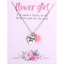 Flower girl Necklace with Flower