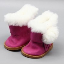 "18"" Doll Shoes - Fluffy Boots - Pink"